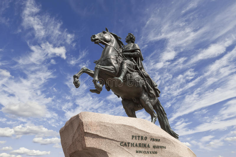 Saint-Petersburg. the equestrian statue of Peter the Great, royalty free stock images