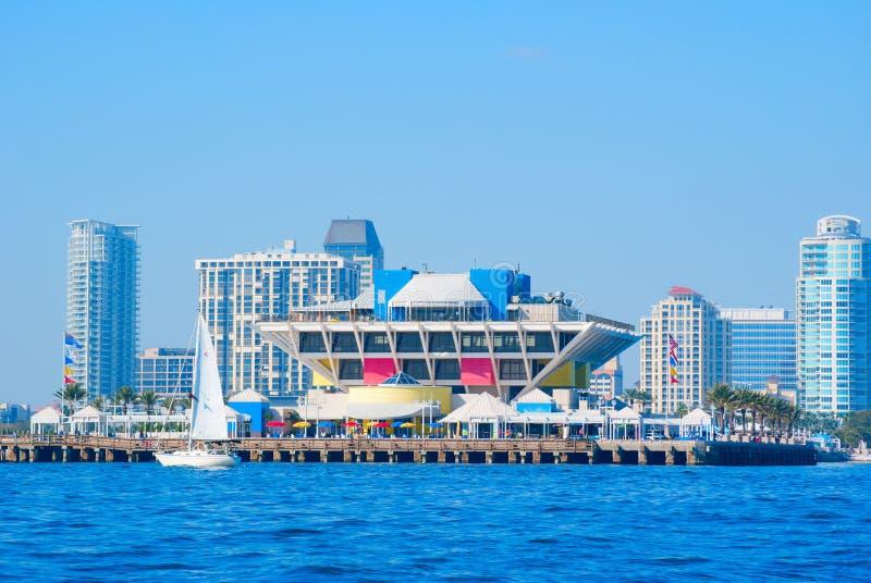 Saint Petersburg Florida skyline with pier stock image