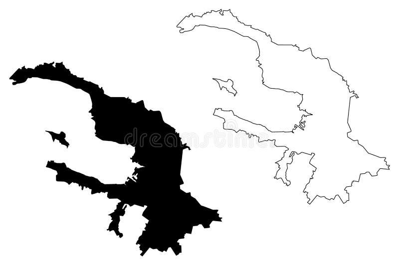 Saint Petersburg map vector royalty free illustration