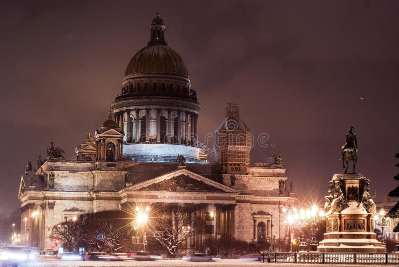 Saint Petersburg night royalty free stock photography