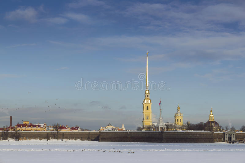 Saint-Petersburg. The Peter and Paul Fortress royalty free stock image