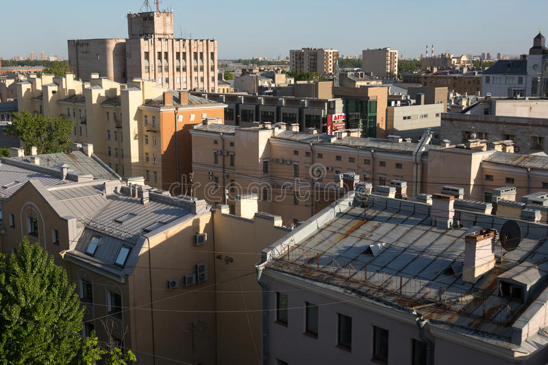 Saint Petersburg roofs stock photography