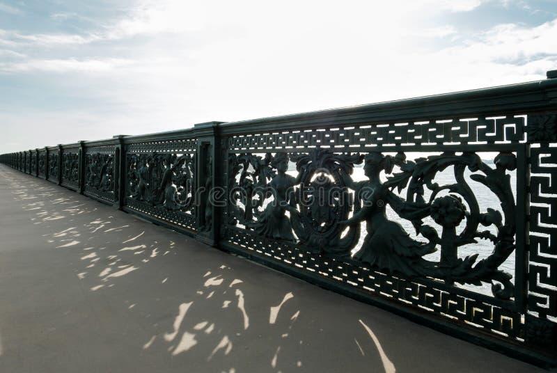Saint-Petersburg, Russia - April 4, 2017: The fence of the Liteyny Bridge stock photography