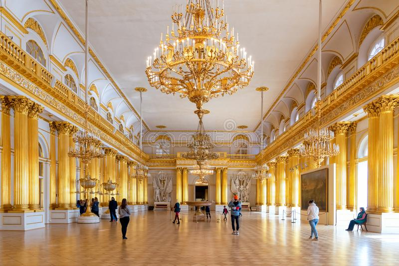 The interior of armorial Hall in the State Hermitage a museum of art and culture royalty free stock image