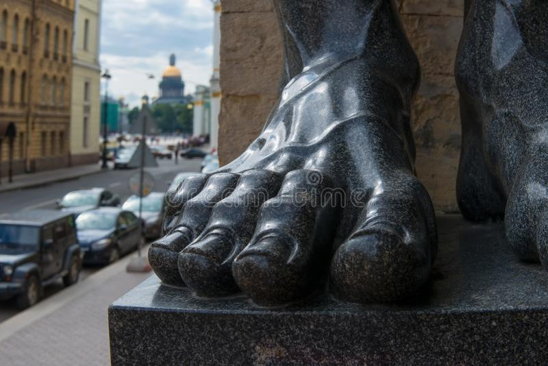 The mighty foot royalty free stock image