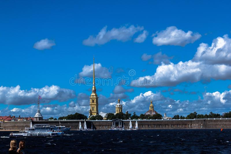 SAINT-PETERSBURG, RUSSIA - AUGUST 29, 2018: View in The Peter and Paul Fortress stock image
