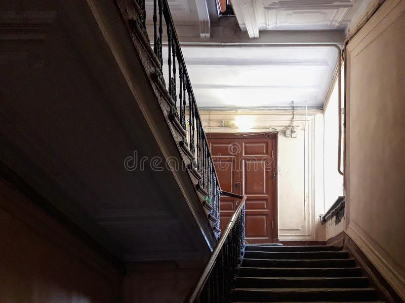 Staircase in the center of the European city Saint Petersburg, Russia stock image