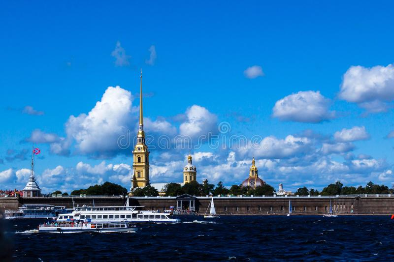 SAINT-PETERSBURG, RUSSIA - AUGUST 29, 2018: View in The Peter and Paul Fortress stock photo