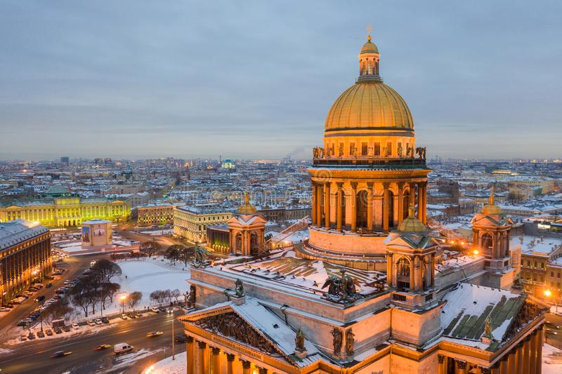 Saint Petersburg Russia, city skyline at Saint Isaac Cathedral royalty free stock photo