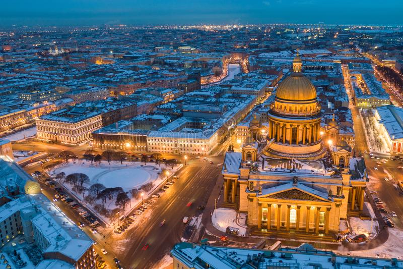 Saint Petersburg Russia, city skyline at Saint Isaac Cathedral royalty free stock photography