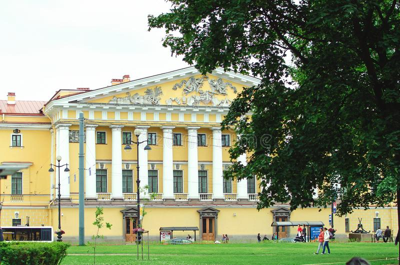 Beautiful historic famous building in St. Petersburg royalty free stock images