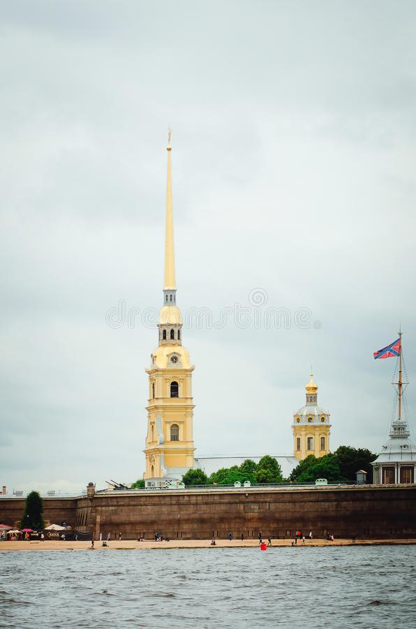 Sights of St. Petersburg. Beautiful historical architecture. Vertical photo royalty free stock photography