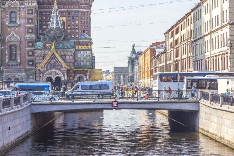 City of Saint Petersburg. Griboedov Canal stock photo