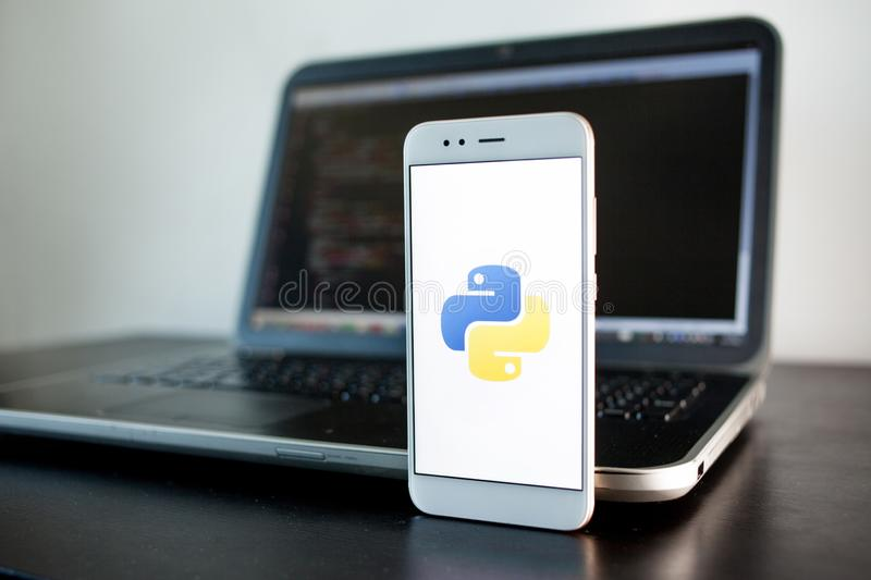 Python Programming Application Icon Editorial Image - Image