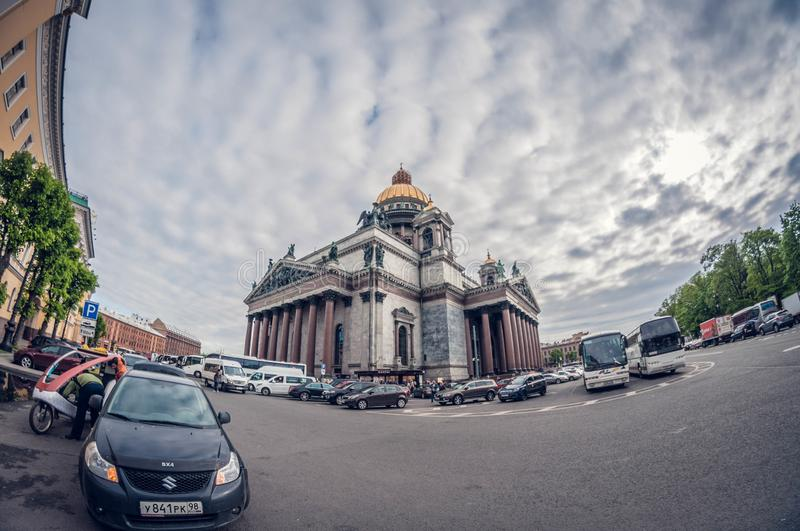 Saint Petersburg, Russia - May 19, 2016: Saint Isaac`s Cathedral or Isaakievskiy Sobor. Russia, Saint Petersburg - May 19, 2016: Saint Isaac`s Cathedral or stock photo