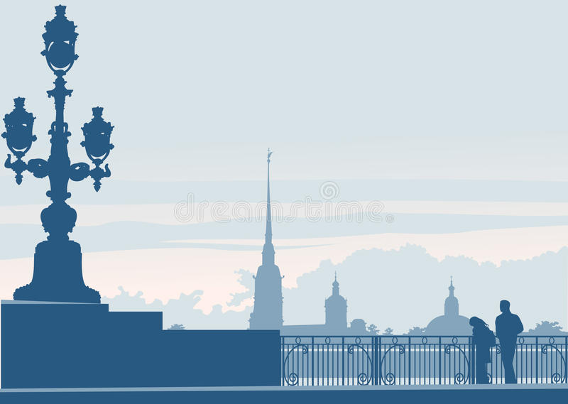 Saint Petersburg, Russia, Peter and Paul vector illustration