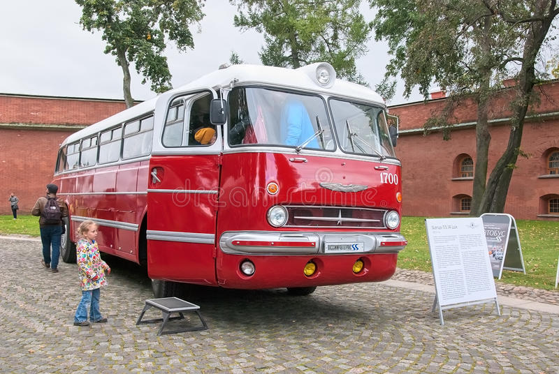 Saint-Petersburg. Russia. Retro Buses Exhibition royalty free stock photography