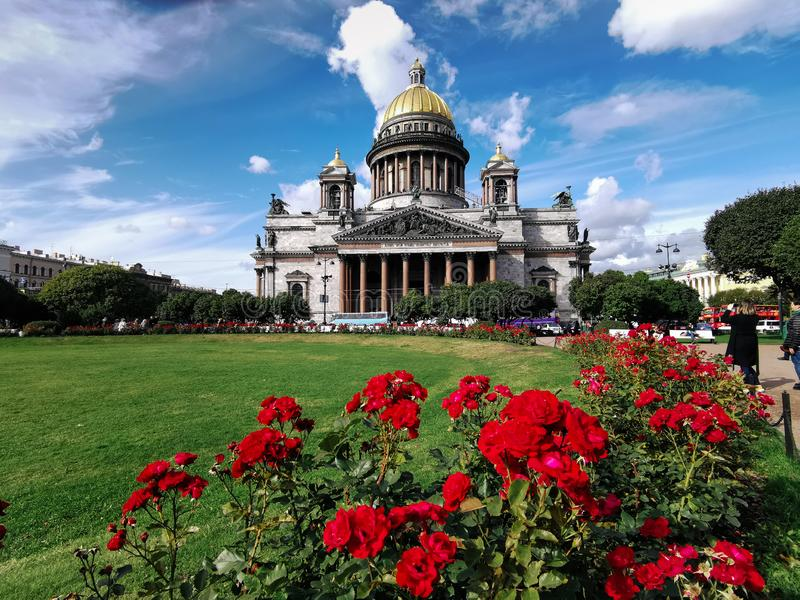 Saint Petersburg, Russia - 20.09.2019, St Isaac cathedral is the biggest christian orthodox church in the world royalty free stock images