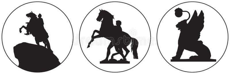 Saint-Petersburg Russian landmark vector icon stock illustration