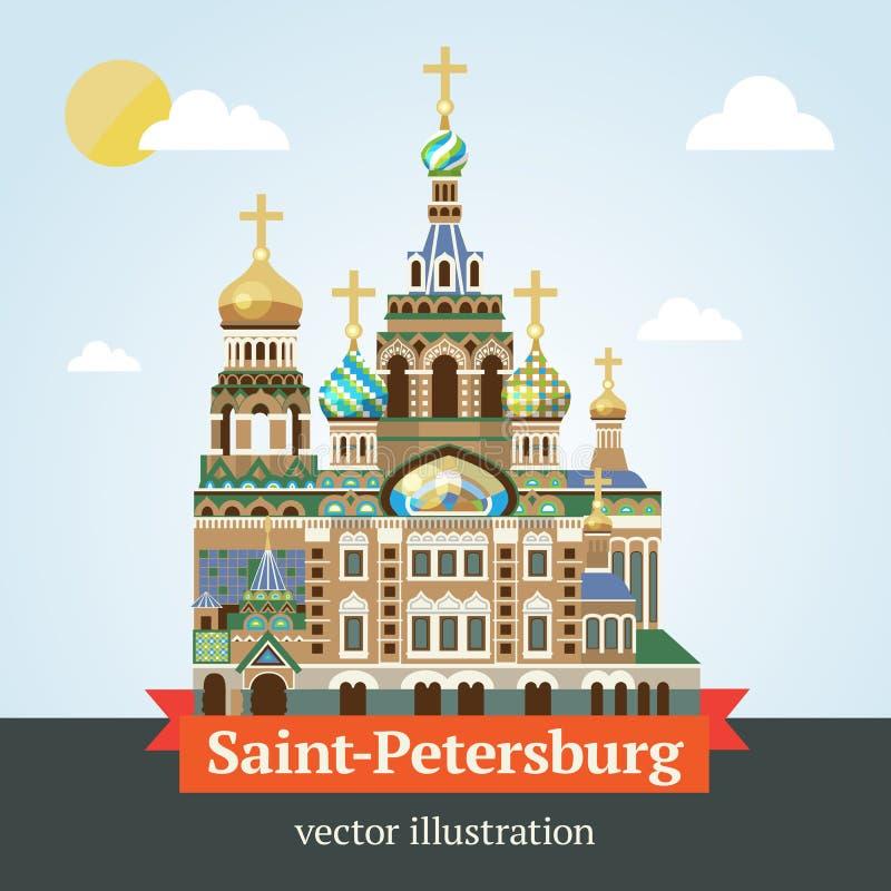 Saint Petersburg. Savior on Spilled Blood. stock illustration