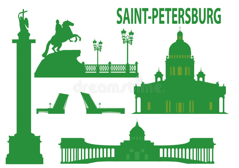 Saint petersburg skyline vector illustration