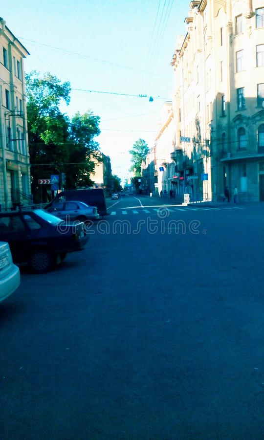 Saint Petersburg street stock photography