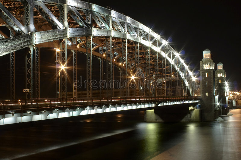 Saint-Petersburg tale bridge stock photography