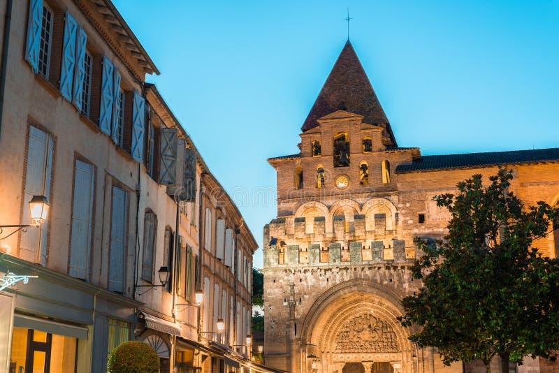 Saint Pierre Abbey em Moissac, França fotos de stock royalty free