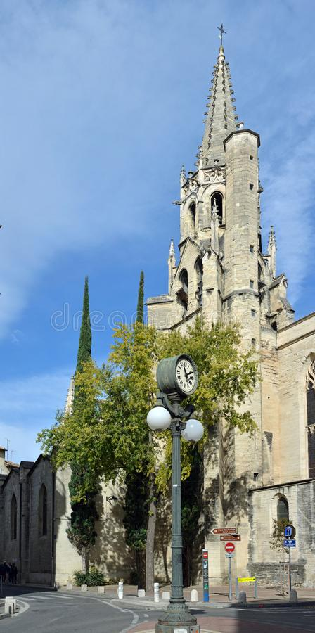 Saint Pierre Church in Avignon, Provence France. royalty free stock images