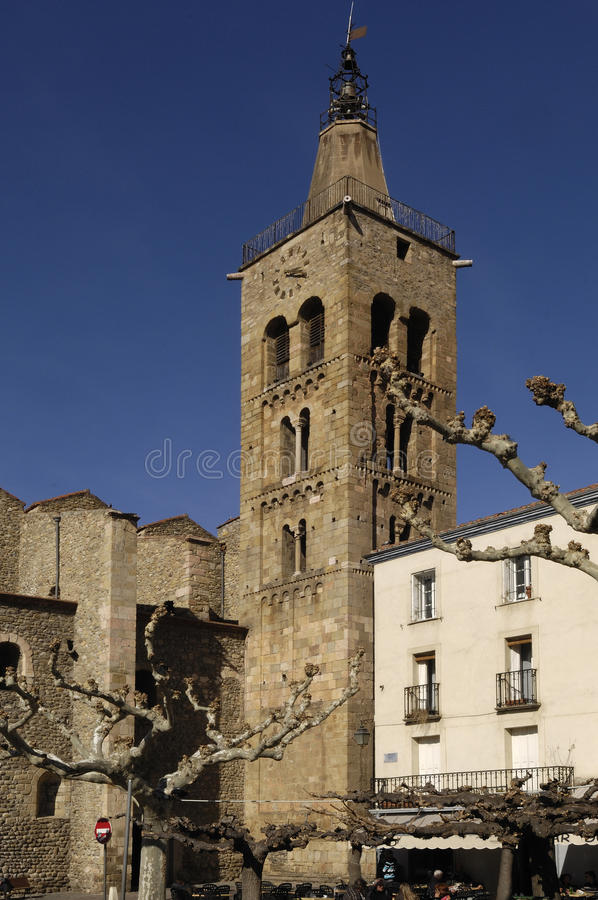 Saint Pierre Church, Prades, Languedoc Roussillon, Pyrenees Orientales, France royalty free stock photography