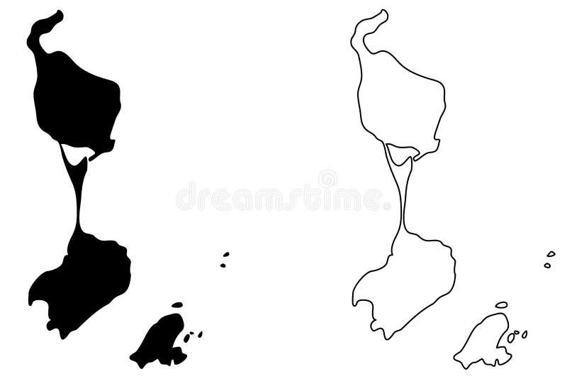 Saint Pierre i Miquelon mapy wektor royalty ilustracja