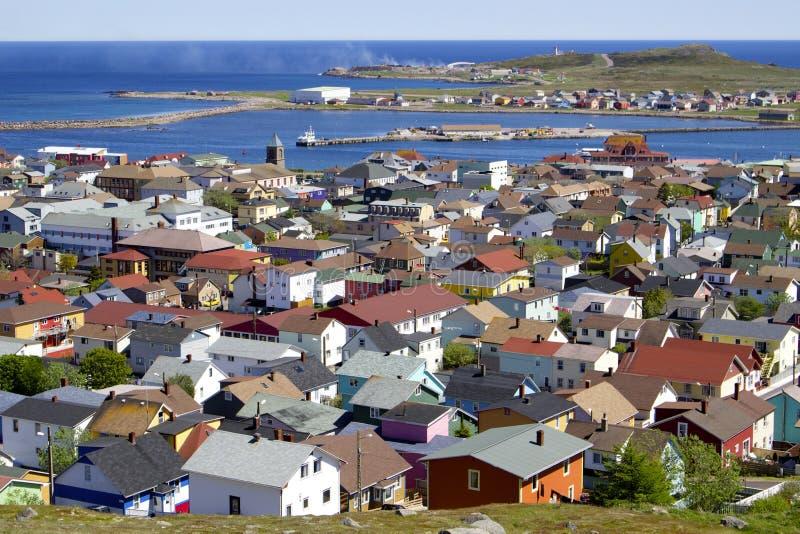Saint Pierre Island Houses Stock Photo Image Of Seen