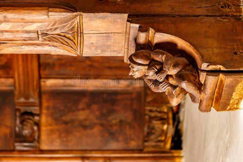 Interior decoration of Sarriod de La Tour castle in Aosta Valley, Italy royalty free stock photo