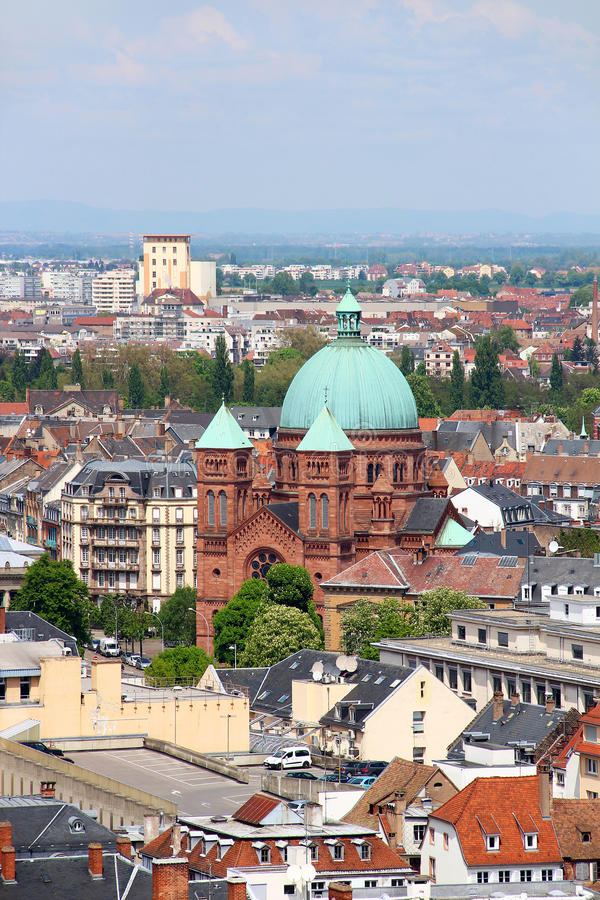 Saint-Pierre-le-Jeune catholic church, Strasbourg, France royalty free stock images