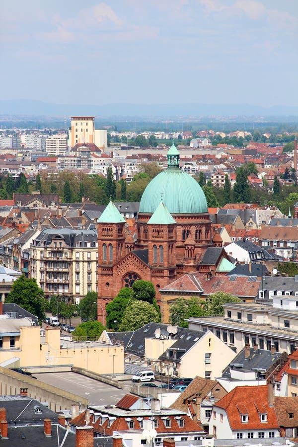 Saint-Pierre-le-Jeune igreja Católica, Strasbourg, França imagens de stock royalty free