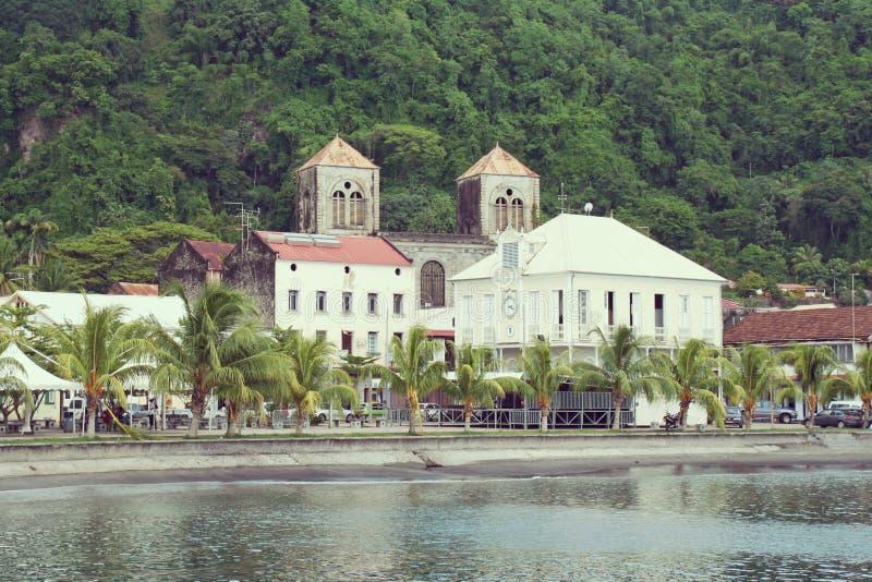 Saint Pierreby i Martinique royaltyfri fotografi