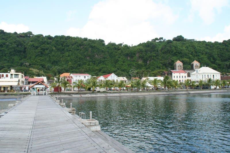 Saint Pierreby i Martinique royaltyfria bilder