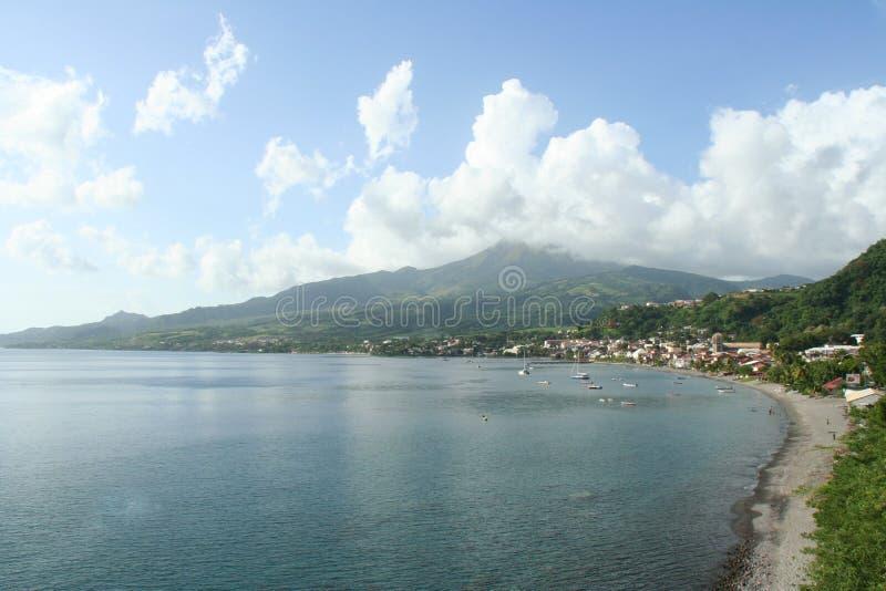 Saint Pierreby i Martinique arkivfoton