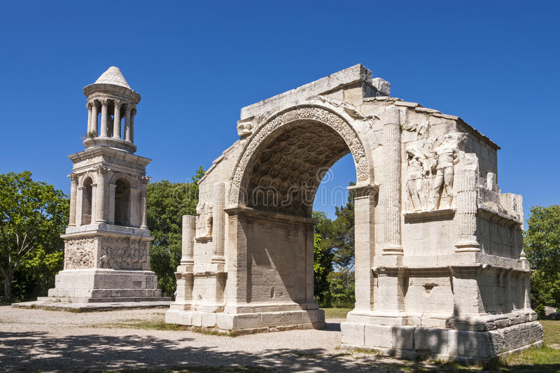 Saint Remy - The Roman site royalty free stock images