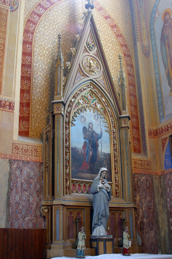 Saint Roch altar in Church of Saint Peter in Velesevec, Croatia. Saint Roch altar in the Parish Church of Saint Peter in Velesevec, Croatia stock photo