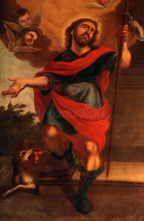 Saint Roch stock images