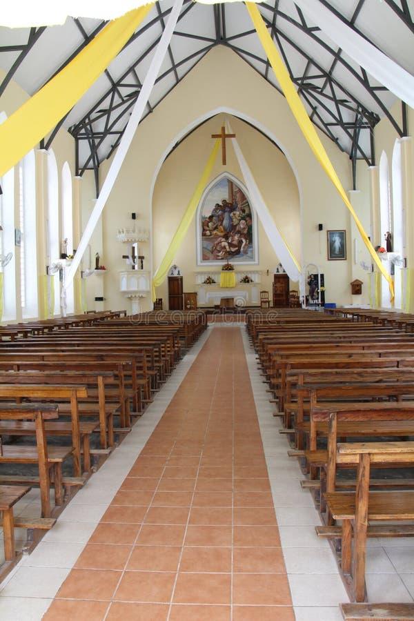 Saint Roch church. In Beau Vallon on Mahe Island in the Seychelles stock image
