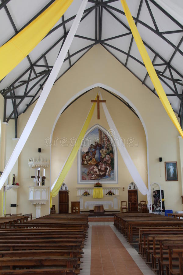 Saint Roch church. In Beau Vallon on Mahe Island in the Seychelles royalty free stock photography