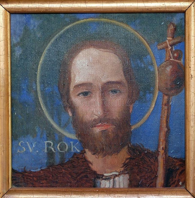 Saint Roch. Parish church of the Holy Trinity in Krasic, Croatia royalty free stock photography