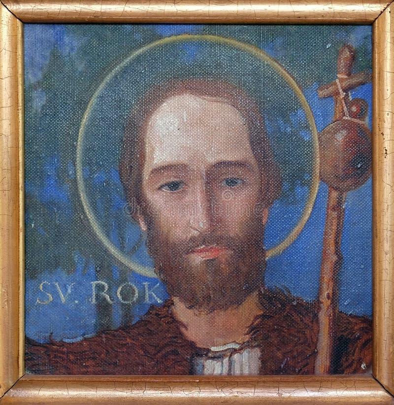 Saint Roch. Parish church of the Holy Trinity in Krasic, Croatia royalty free stock photos