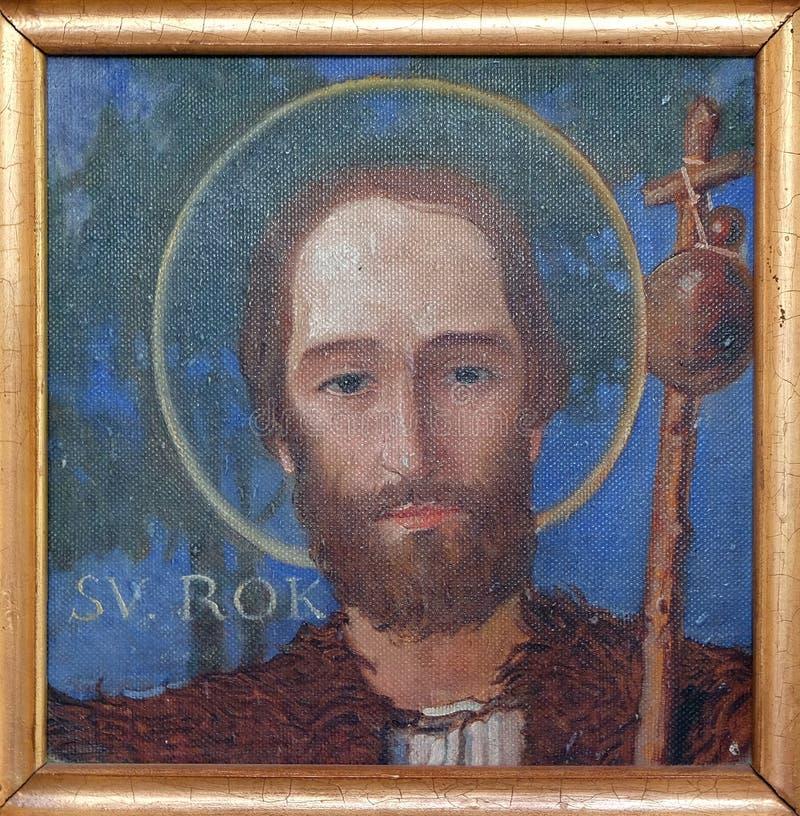 Saint Roch. Parish church of the Holy Trinity in Krasic, Croatia stock image