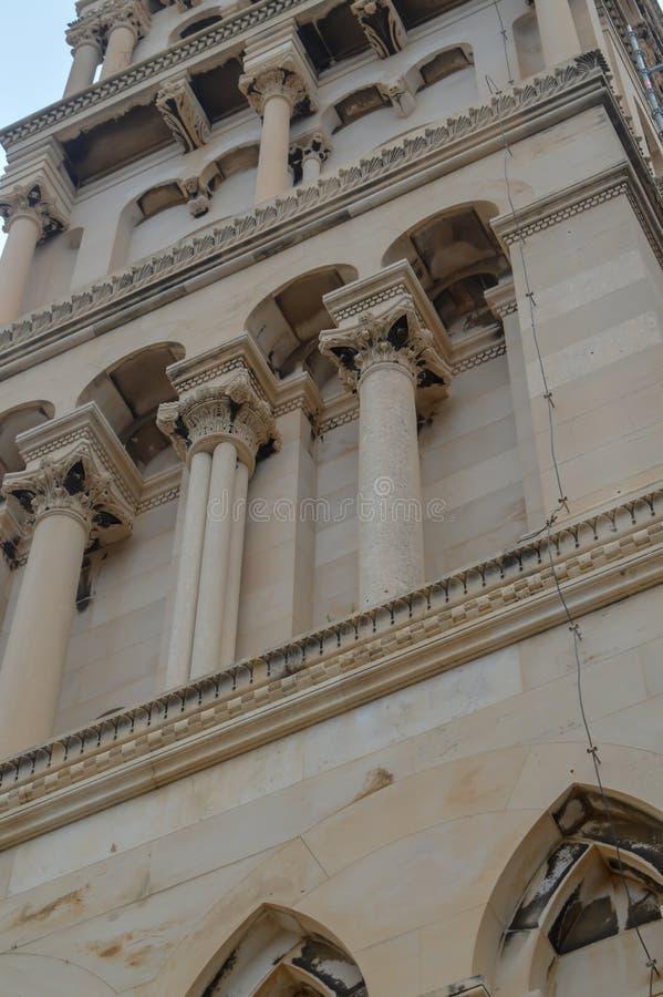 Saint Roch Roka Church near Diocletian`s palace in Split on June 15, 2019. SPLIT, CROATIA - JUNE 15: Saint Roch Roka Church near Diocletian`s palace in Split on royalty free stock photo