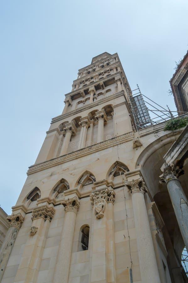 Saint Roch Roka Church near Diocletian`s palace in Split on June 15, 2019. SPLIT, CROATIA - JUNE 15: Saint Roch Roka Church near Diocletian`s palace in Split on stock images