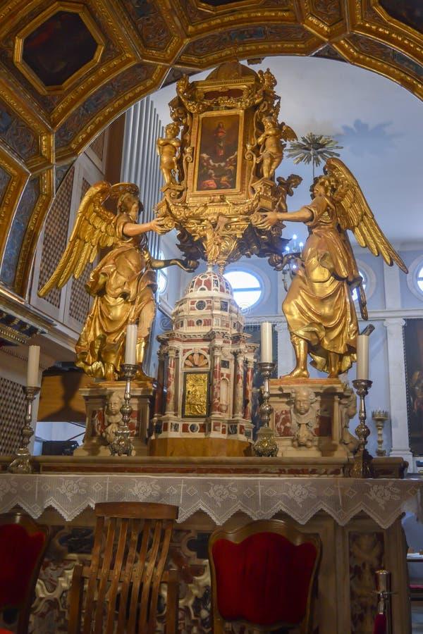 Saint Roch Roka Church near Diocletian`s palace in Split on June 15, 2019. SPLIT, CROATIA - JUNE 15: Saint Roch Roka Church near Diocletian`s palace in Split on stock photography