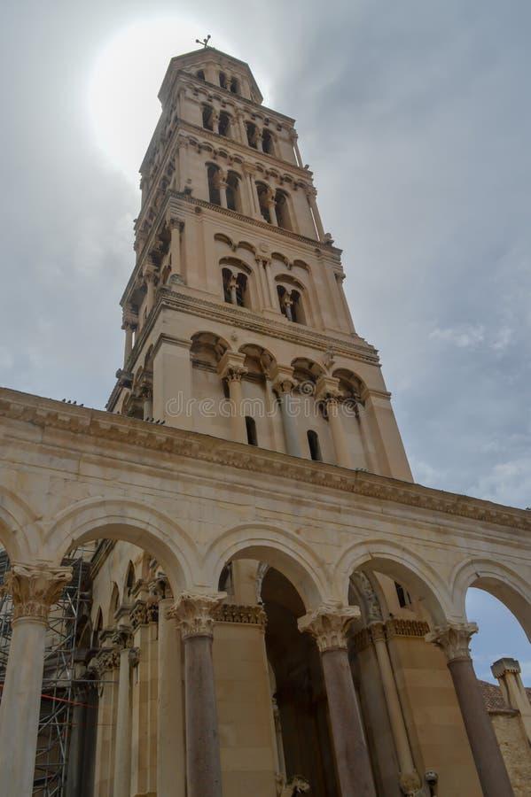 Saint Roch Roka Church in Split. SPLIT, CROATIA - JUNE 15: Saint Roch Roka Church near Diocletian`s palace in Split on June 15, 2019 stock photo